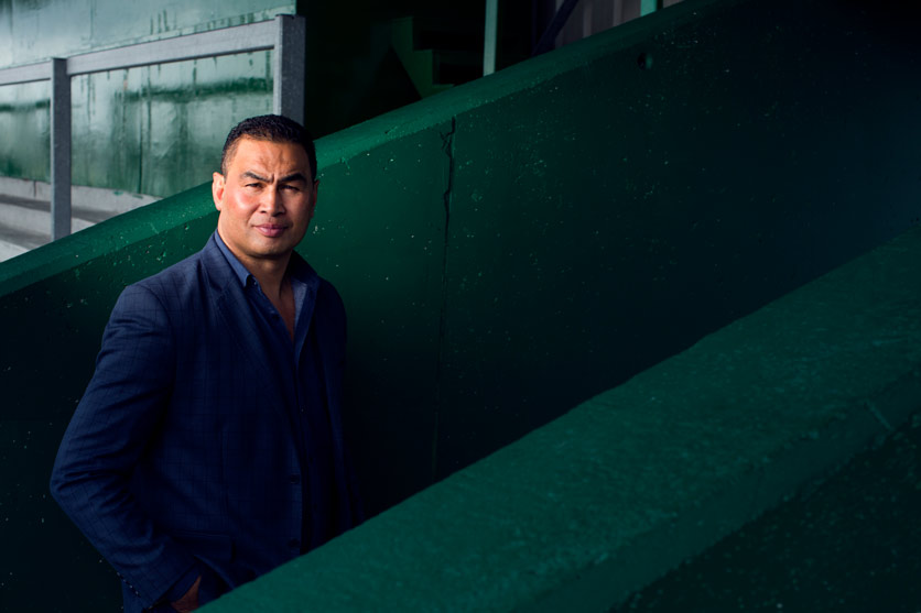 environmental photography:  former connacht Rugby coach Pat Lam