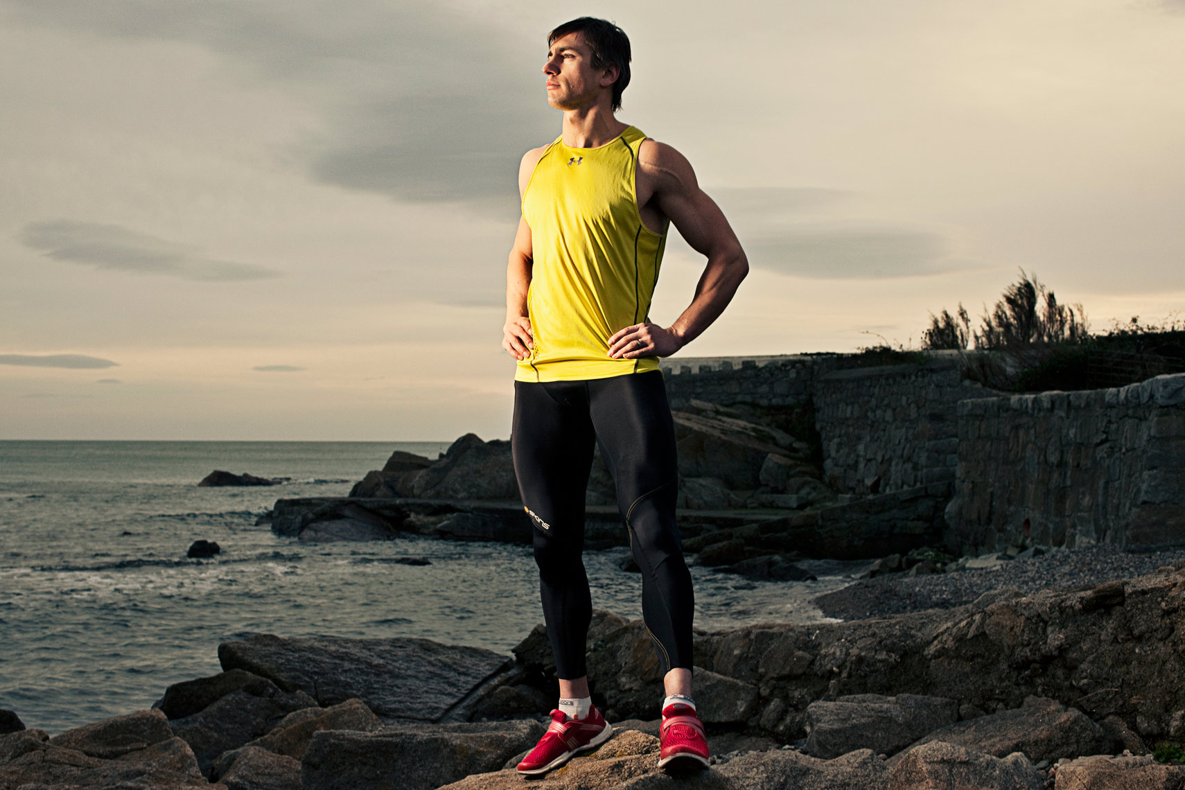 athlete portraits: dramatic portraits of runners