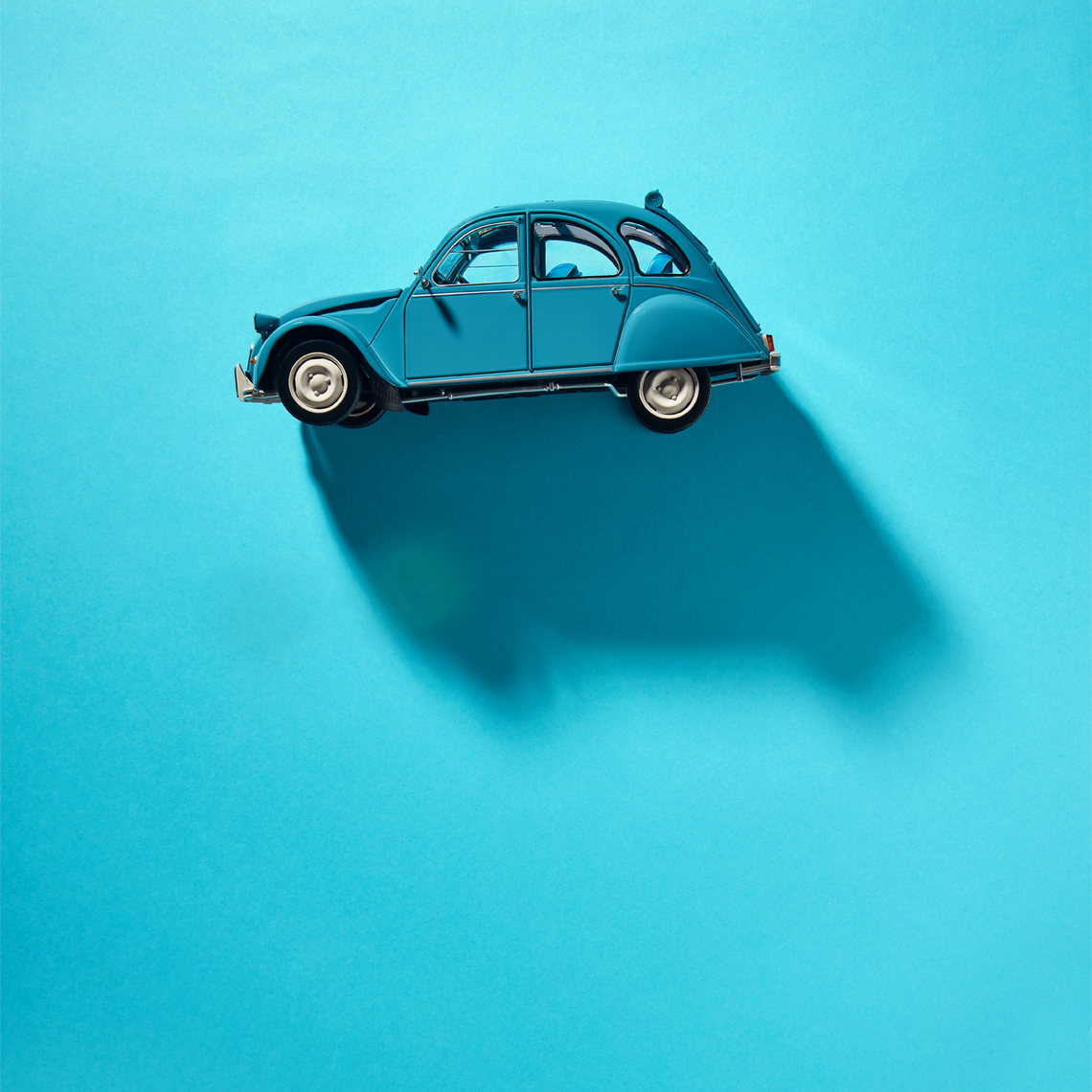 creative still life photography:  citroen 2v car