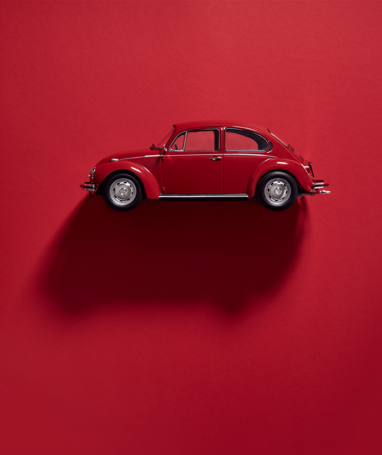 Still Life Photography: vw beetle red