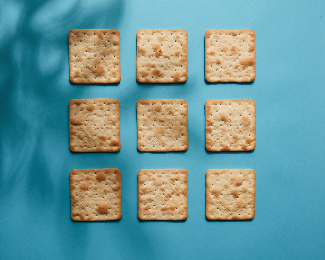 Still Life Food Photography: cream crackers
