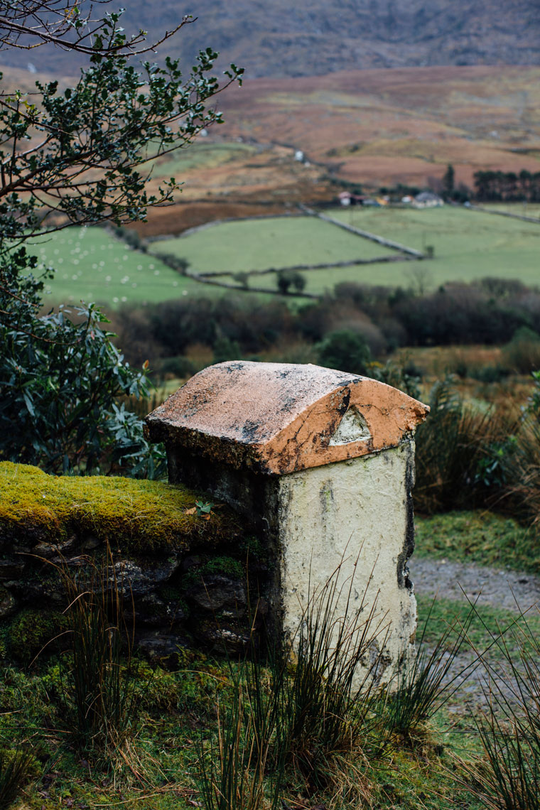 old decayed gatepost