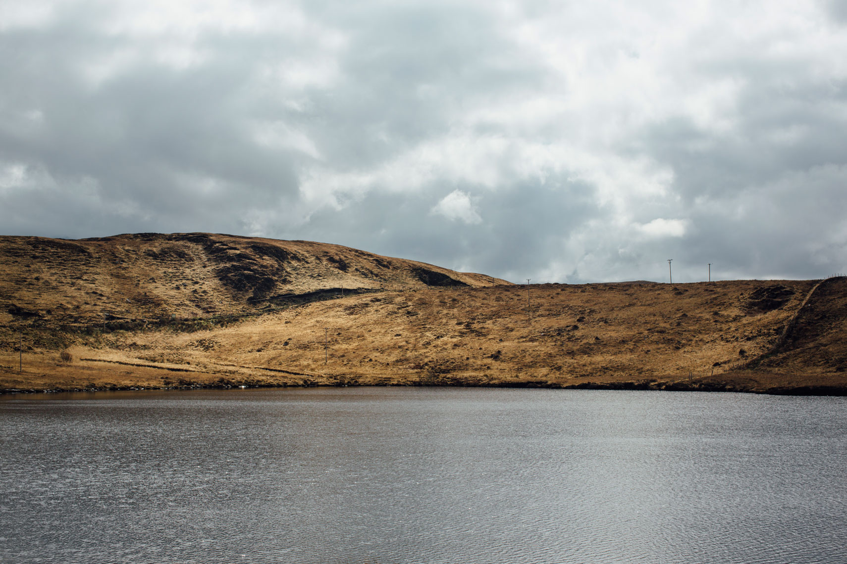 a sequence of photos that tell a story: a barren beautiful kerry landscape