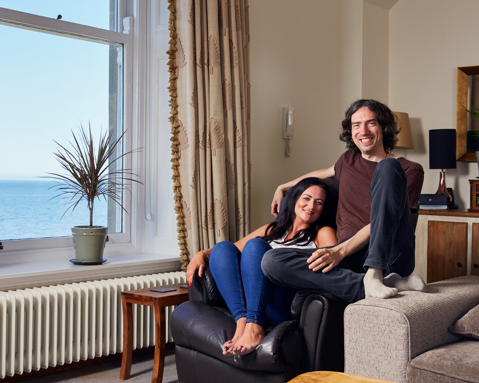 Gary Lightbody with sister