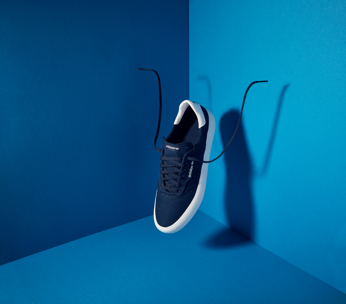 still life photography: addidas causal footwear