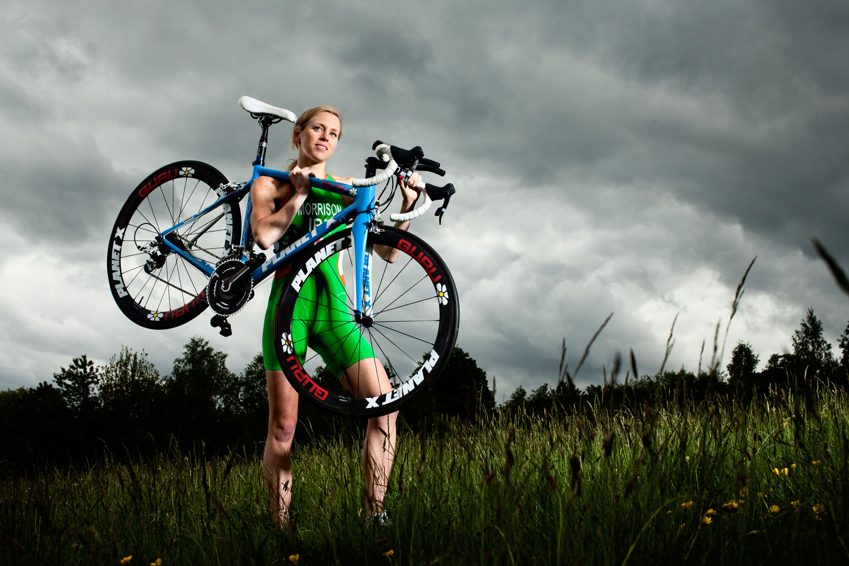 athlete portraits: aileen morrison triathlete with bike