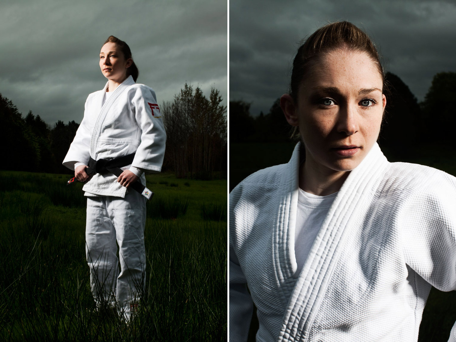 judo athlete in white outfit