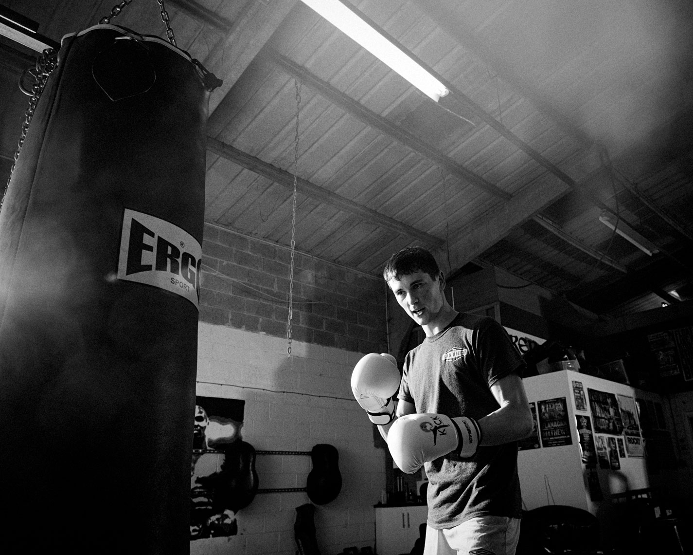 sports action: a photo series on young kickboxers