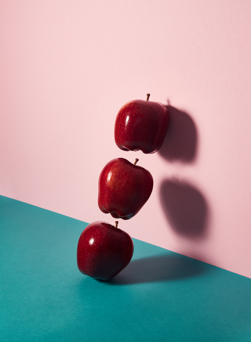 still life photography: red apples