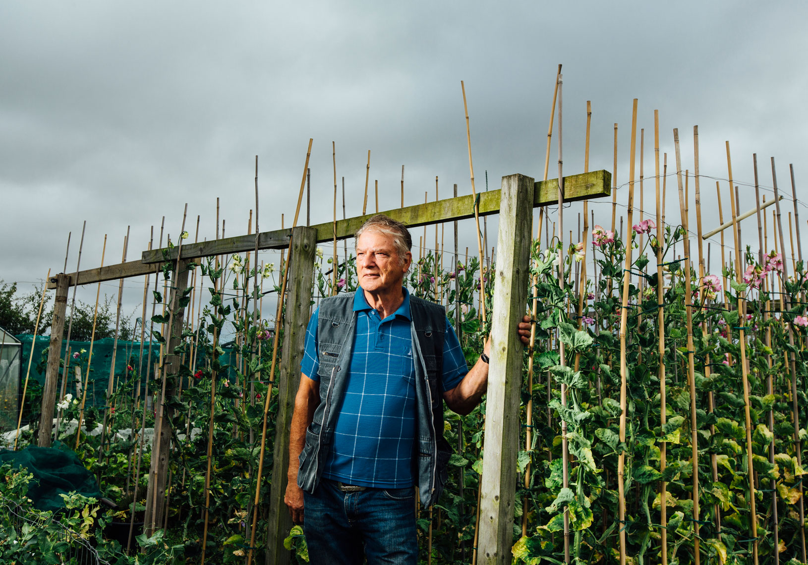 environmental photography: allotment gardener