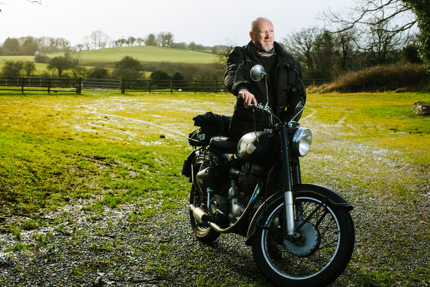 environmental photography: a vintage enfield motorcycle