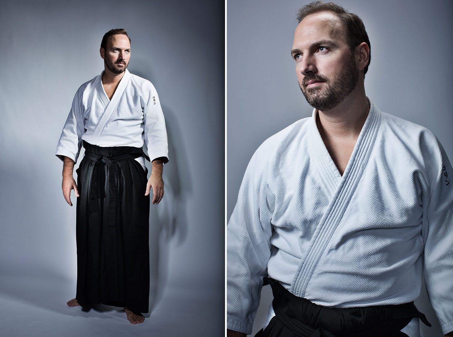 man wearing aikido uniform