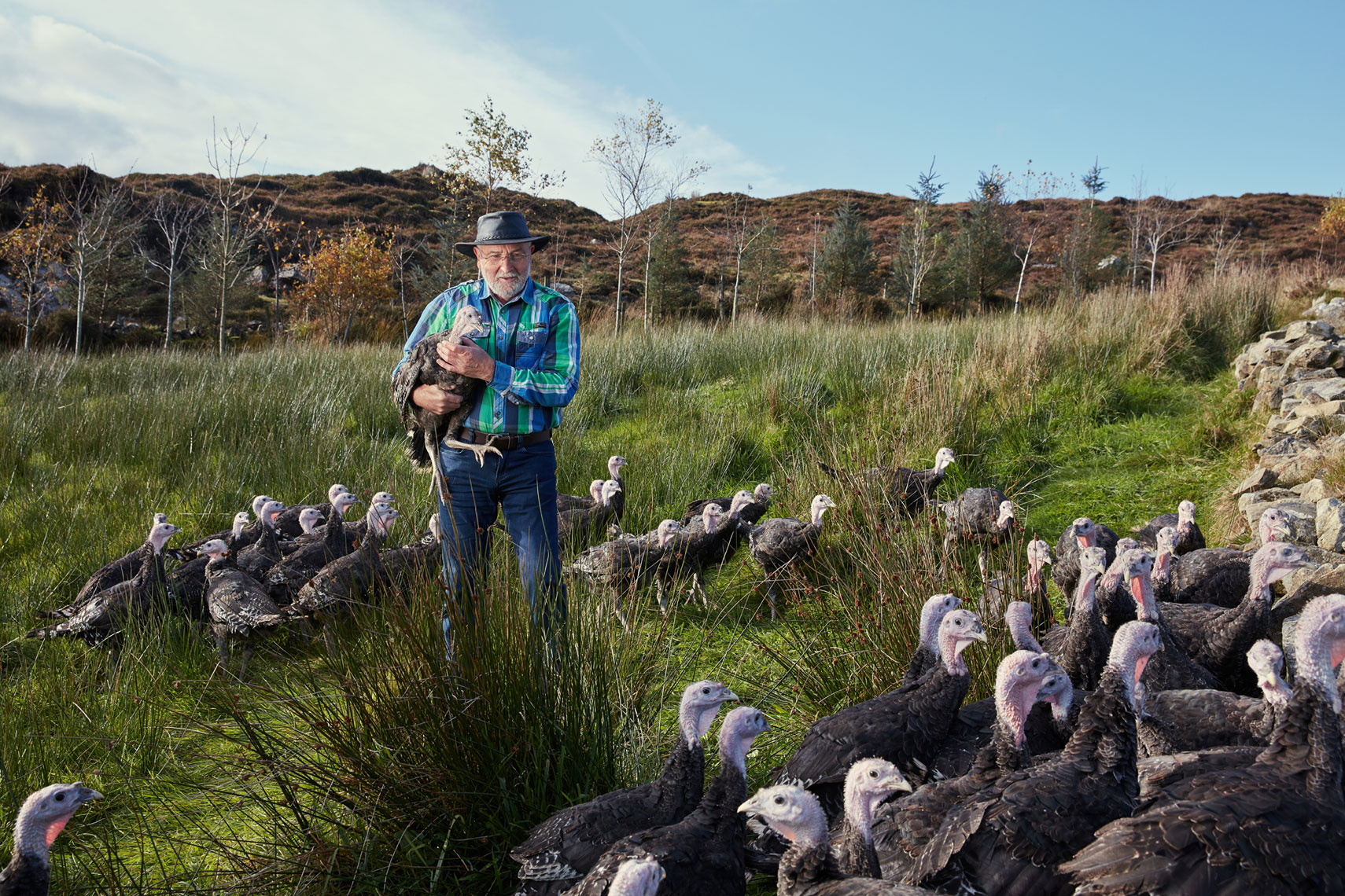 portrait photography: organic turkey farming in Ireland