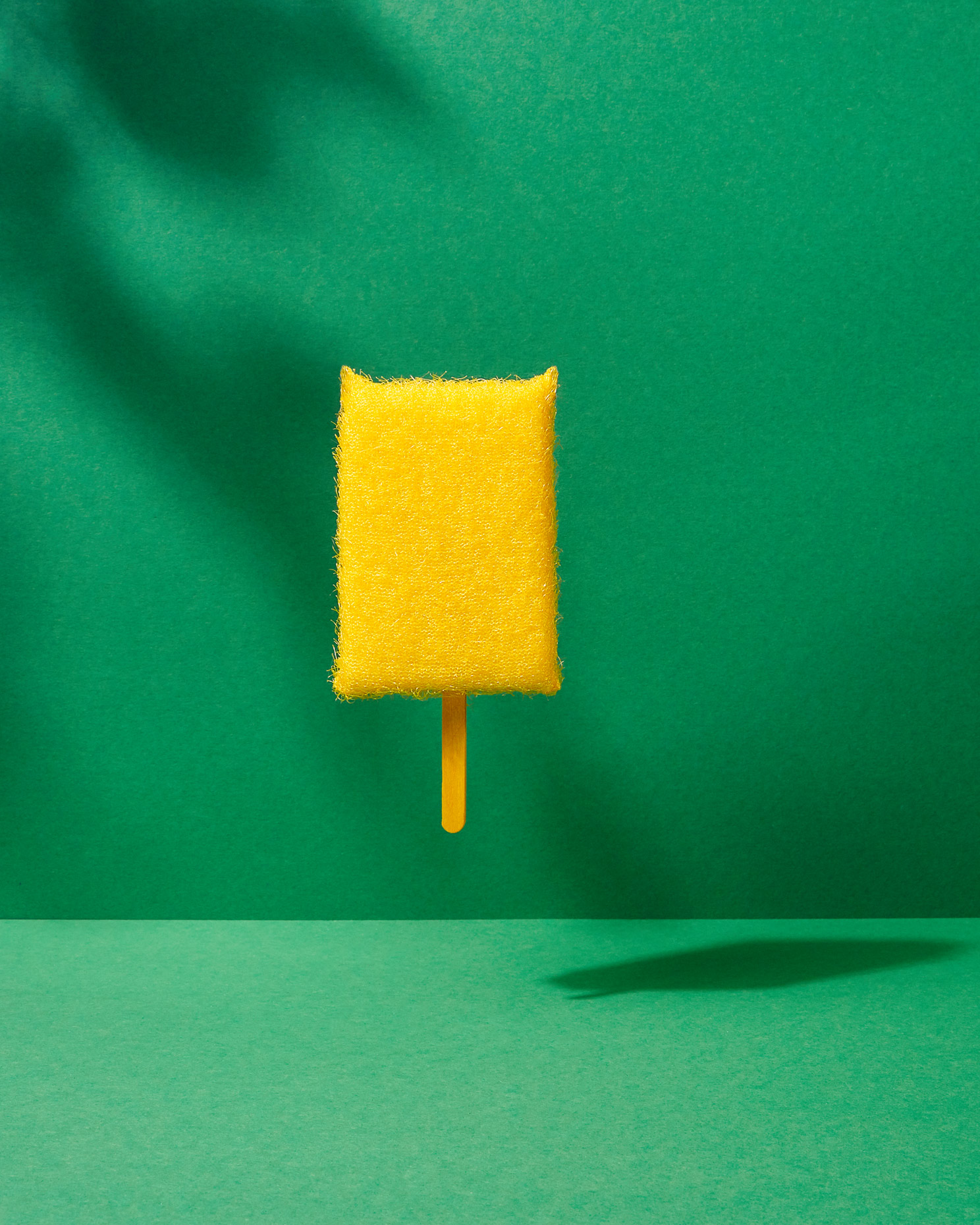 creative still life: sponge lollipop